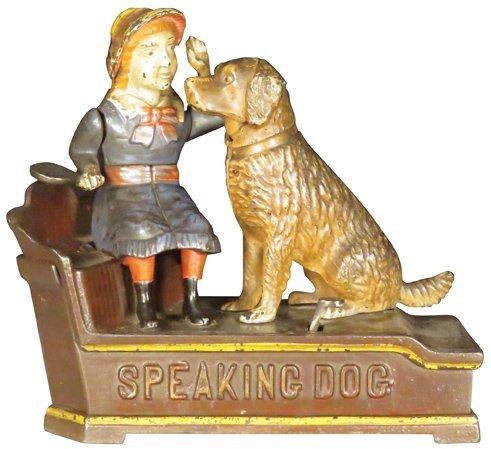Barking Dog Cast Iron Mechanical Bank