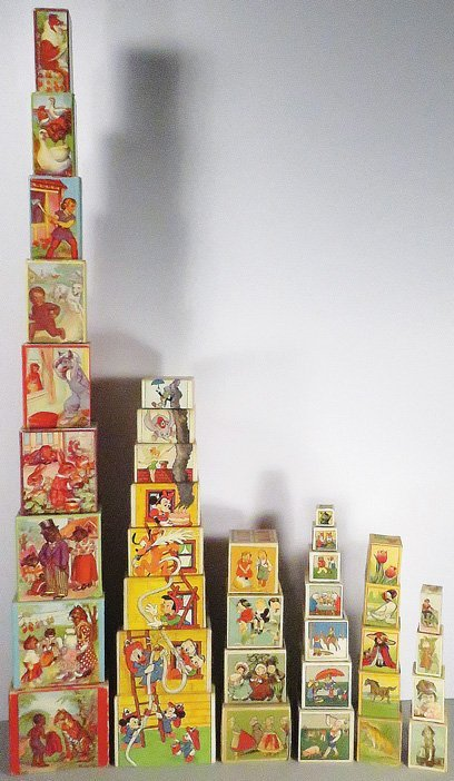 Collection of Childrens Stacking Picture Boxes