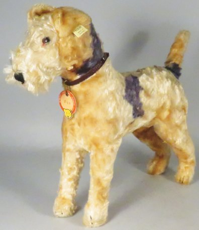"Early Original Steiff ""Fox"" Terrier Stuffed Animal"