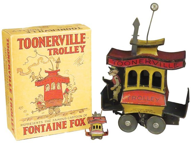 1922 Toonerville Trolley Tin Toy