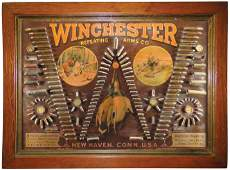 Single 'W' Winchester Repeating Arm's Bullet Board