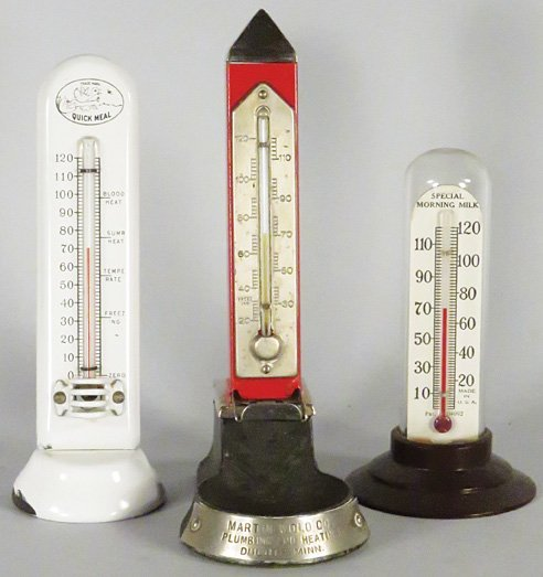 Three Advertising Thermometers