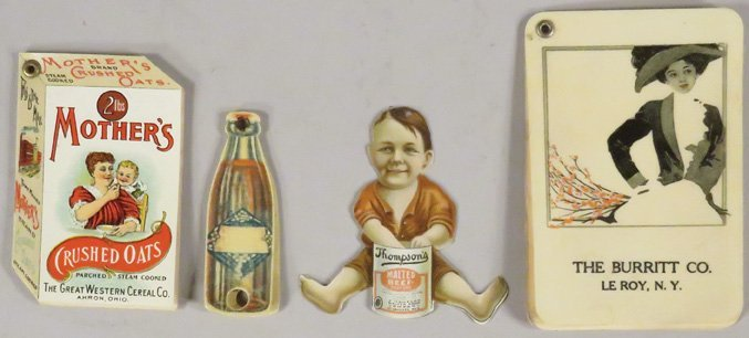 Collection of 4 Celluloid Advertising Items