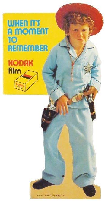 1953 Kodak Die Cut Cardboard Sign