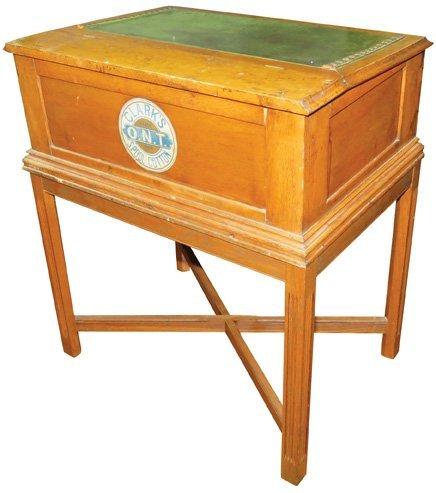 Clark's ONT Leather Top Desk Spool Cabinet - 2