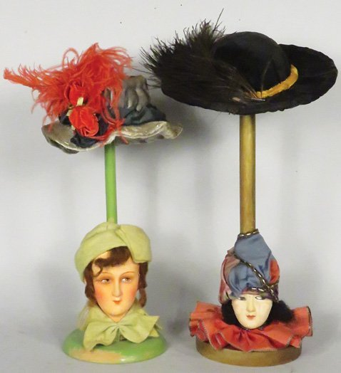 Two Millinery Hat Stands