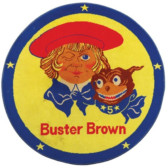 Buster Brown Advertising Rug