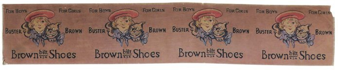 Large Early Buster Brown Shoe Rug