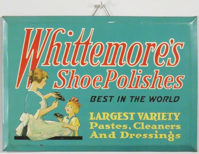 Whittemore's Shoe Polishes Tin Sign