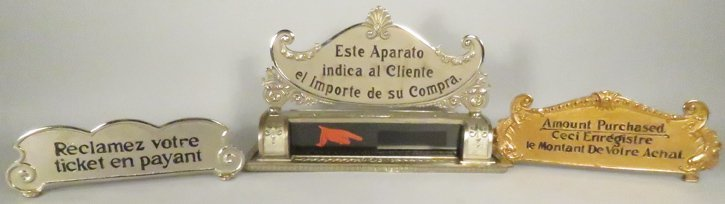 French and Spanish Cash Register Top Signs