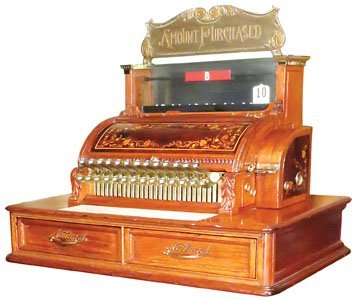 Very Rare National Cash Register Model 47 1/2-2-2