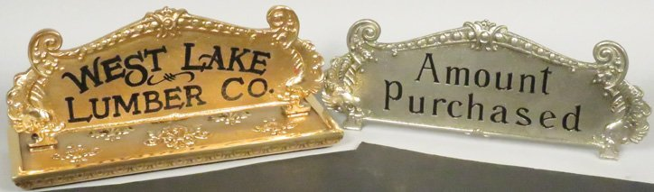 Two Cash Register Top Signs