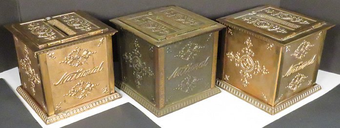 Three National Cash Register Co. Money Boxes