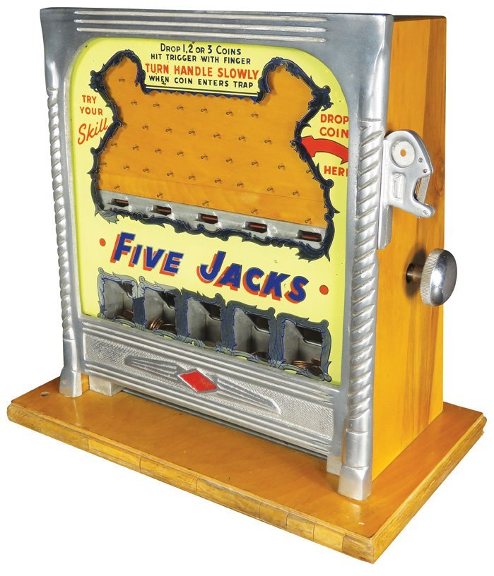 Five Jacks One Cent Game of Skill Game