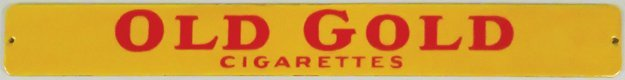 Old Gold Cigarettes Porcelain Sign