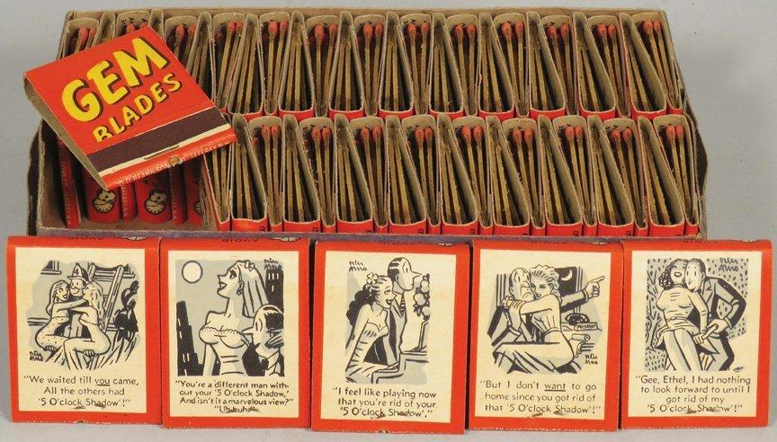 Full Box of Gem Blades Match Books