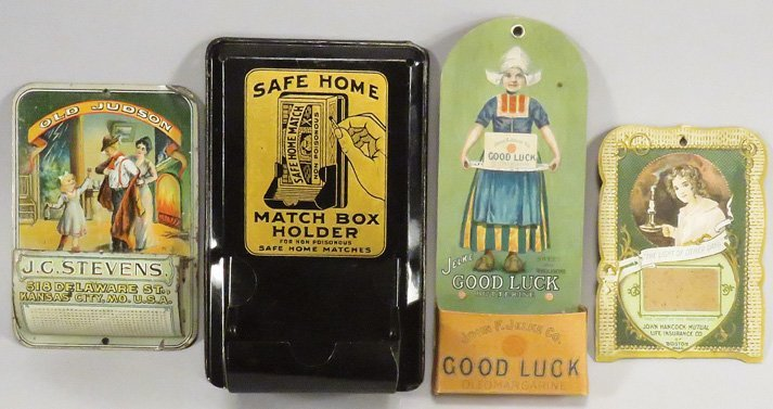 Collection of Advertising Match Holders and Strike
