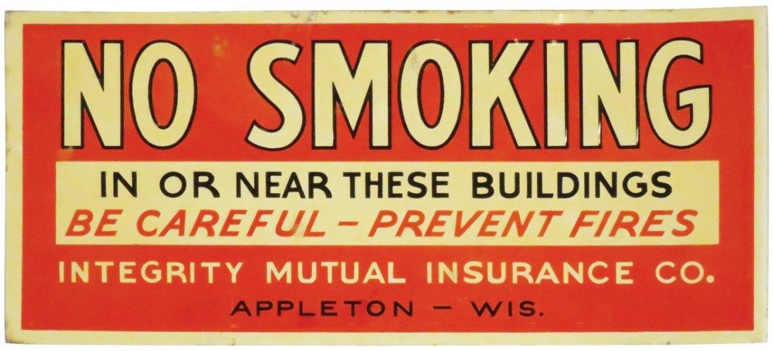 No Smoking Embossed Tin Sign