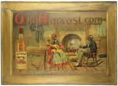 Old Harvest Corn Whiskey Self Framed Tin Sign