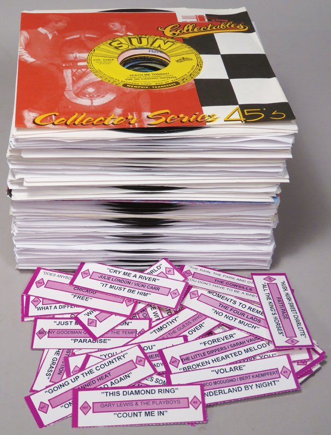 Collection of 45 RPM Records for Juke Boxes