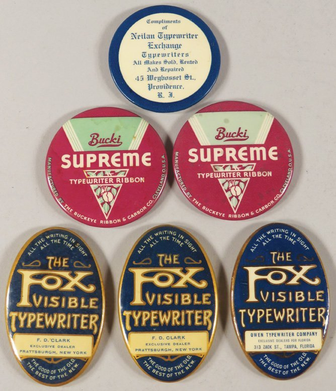 Collection of 6 Celluloid Advertising Pocket Mirrors