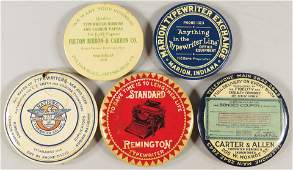 Collection of 5 Celluloid Advertising Pocket Mirrors