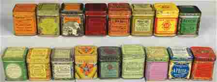 Collection of 17 Early Typewriter Ribbon Tins