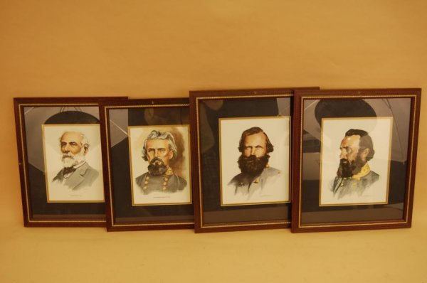 7A: Four of Framed Prints of CSA Generals