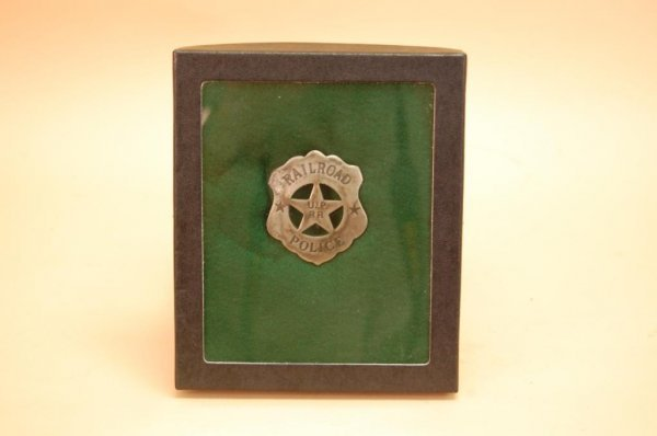 21A: German Silver Union pacific railroad police star