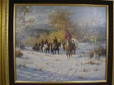 171A: Colorado Cowhands - An Oil Painting by Gary Lynn