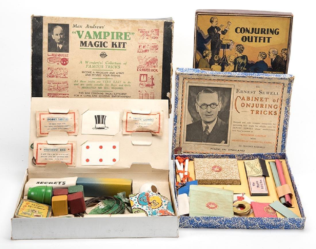 Three Vintage British Magic Sets.