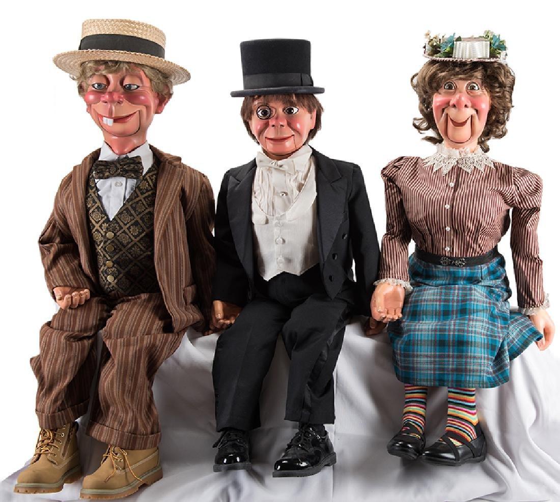 Charlie McCarthy, Mortimer Snerd, and Effie Klinker