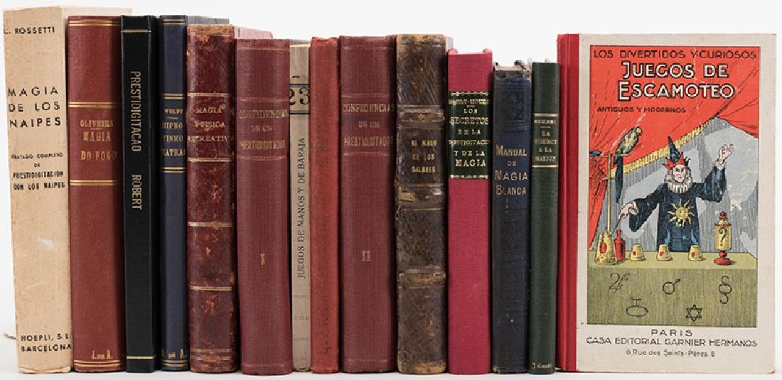 Group of Thirteen Vintage and Antiquarian Magic Books