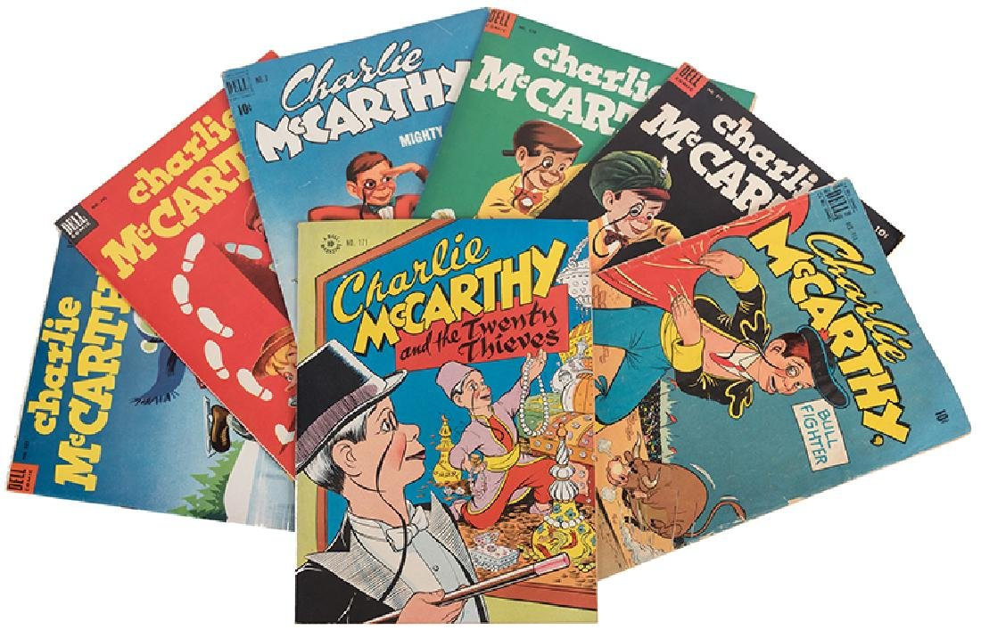 Lot of Seven Charlie McCarthy Comic Books.