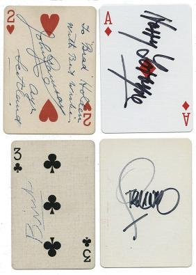 Collection of over 60 Magicians' Autographed Playing