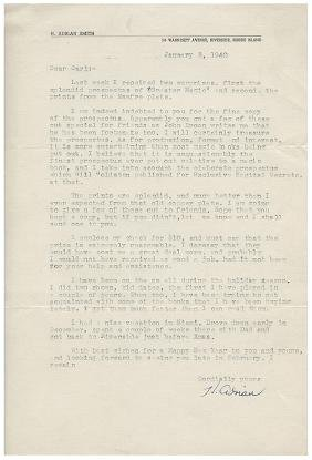 Archive of Letters to and from Carl Waring Jones from