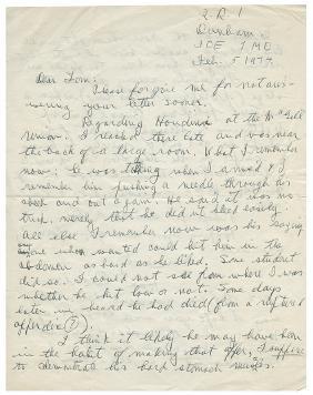 ALS Regarding Houdini's Death.