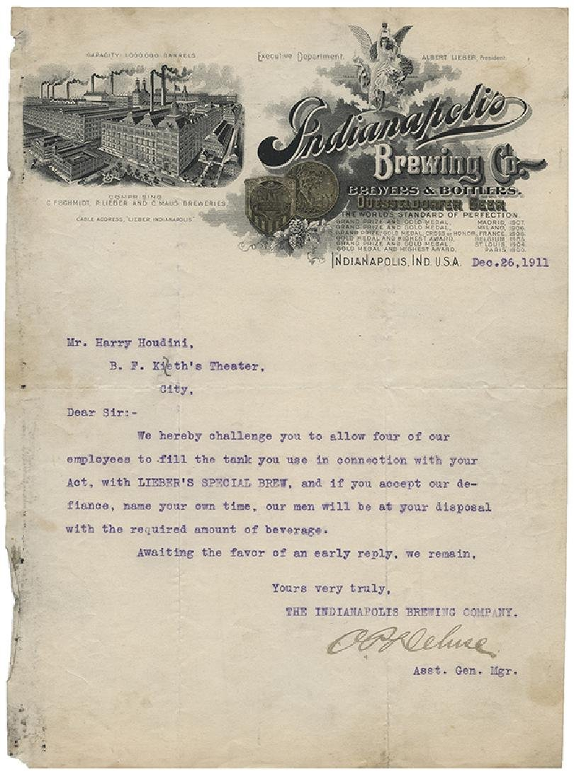 Houdini Brewery Challenge Letter.