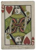 Joseffy (Joseph Freud). Giant Queen of Hearts Inscribed