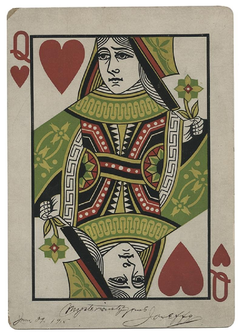 Joseffy (Joseph Freud). Giant Queen of Hearts Inscribed