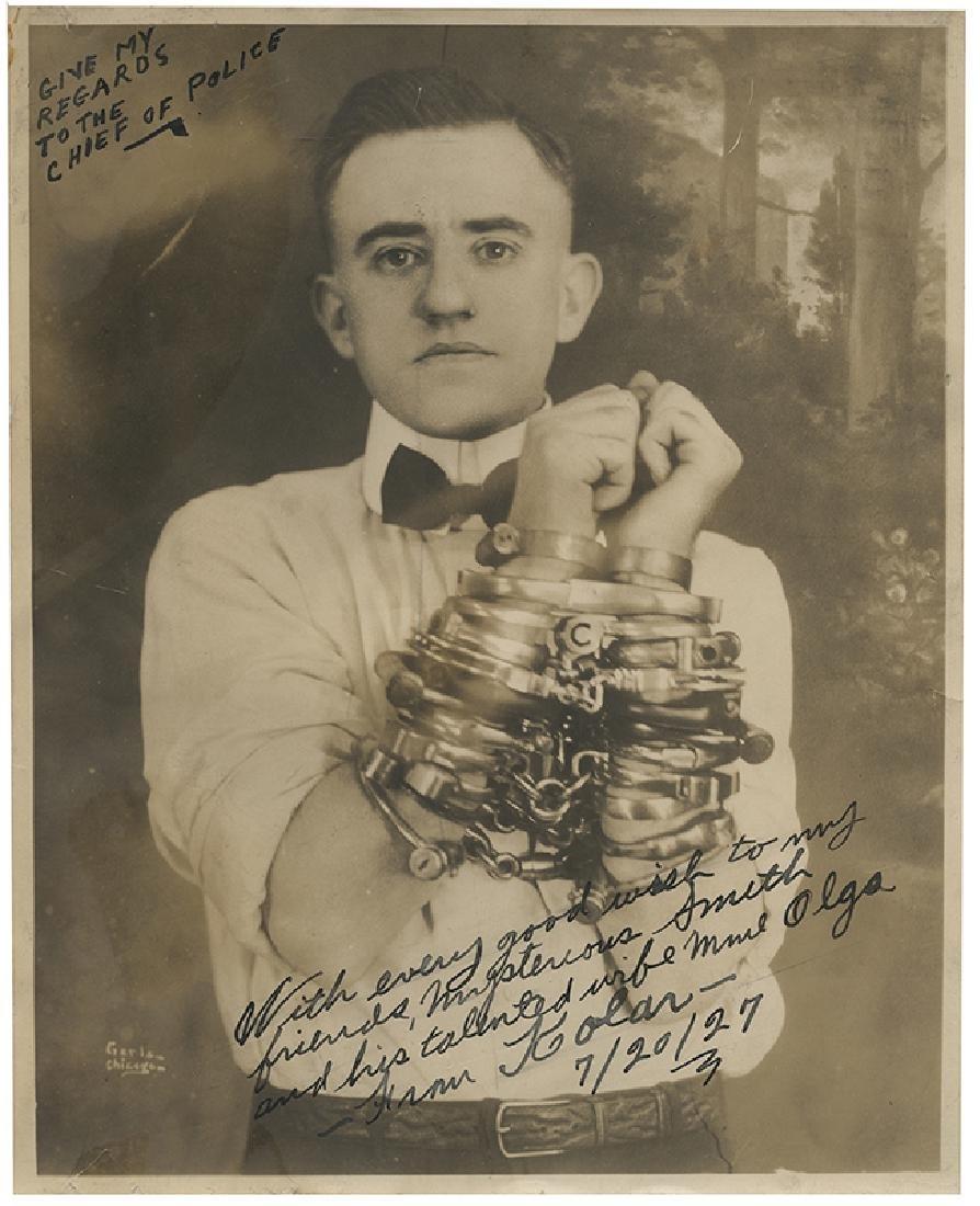 Inscribed and Signed Portrait of Joseph Kolar.
