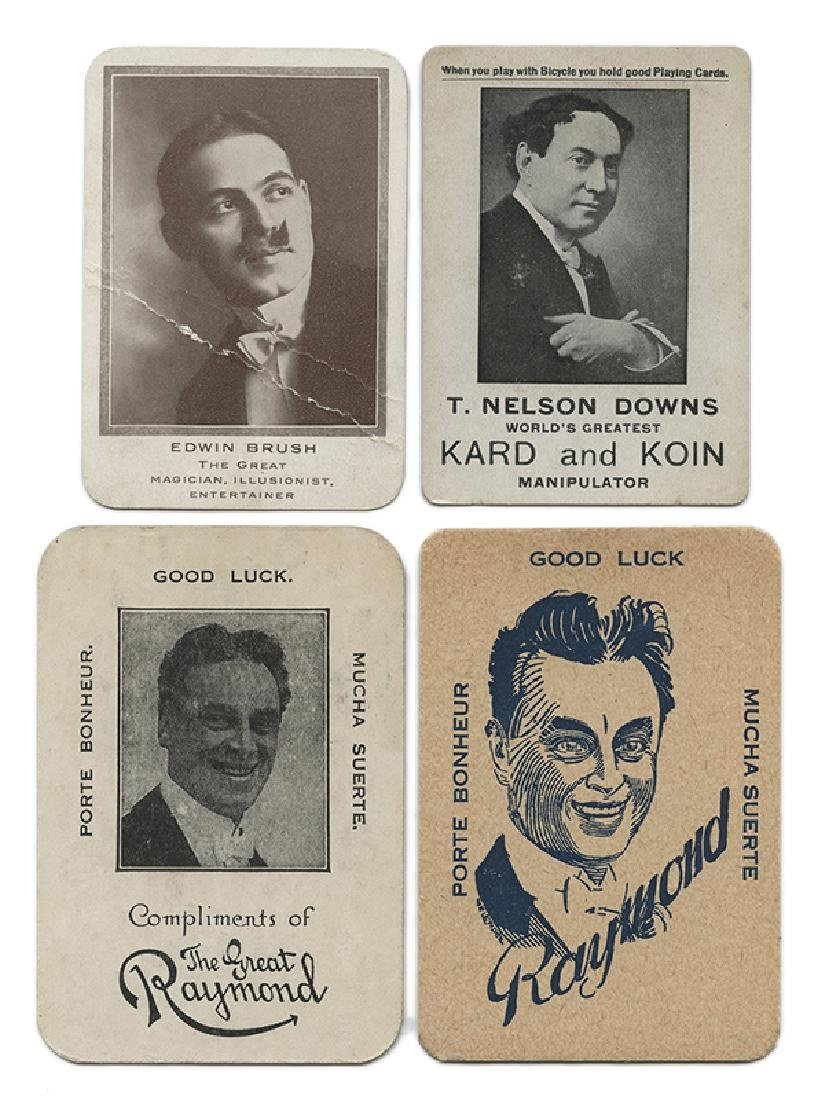 Group of Four Magicians' Throw-Out Cards.