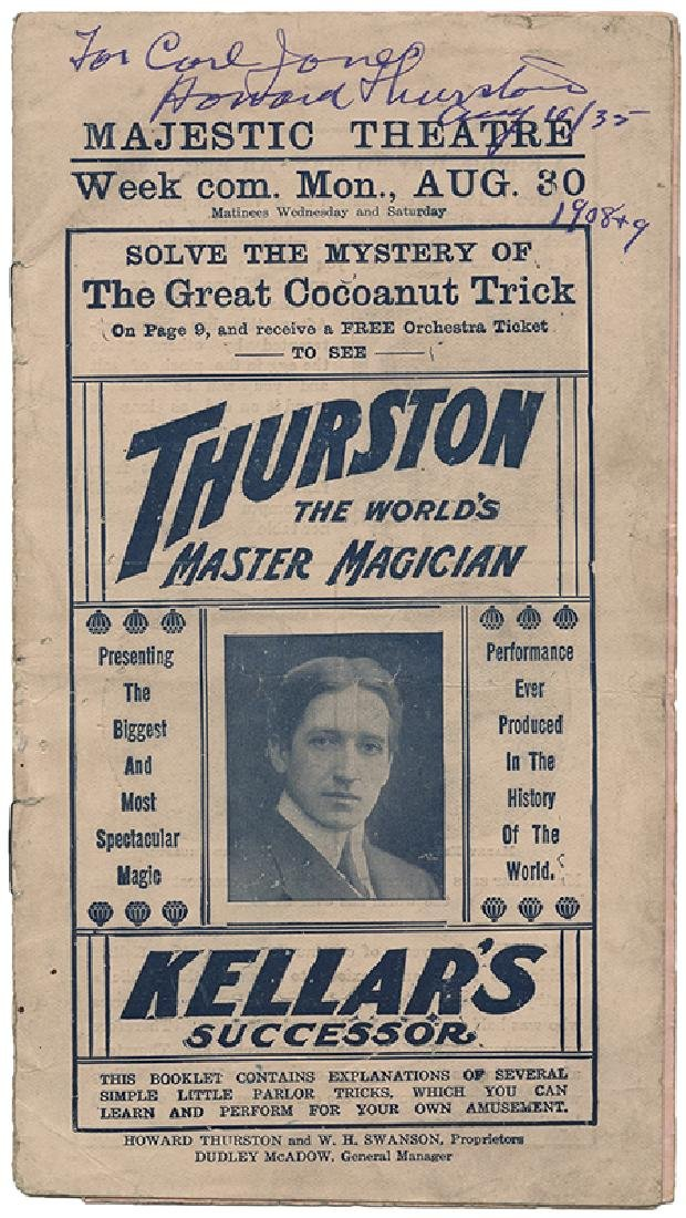 Majestic Theatre Program. Thurston – Kellar's
