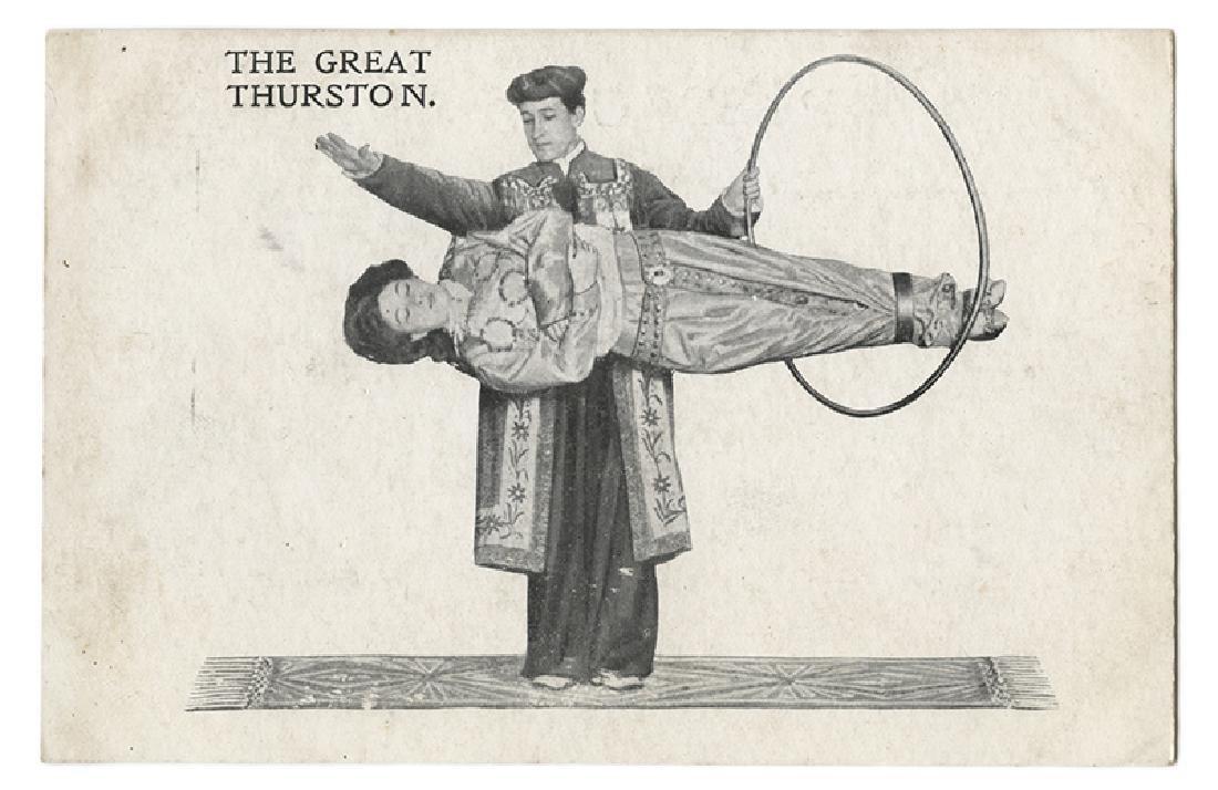The Great Thurston Levitation Postcard.