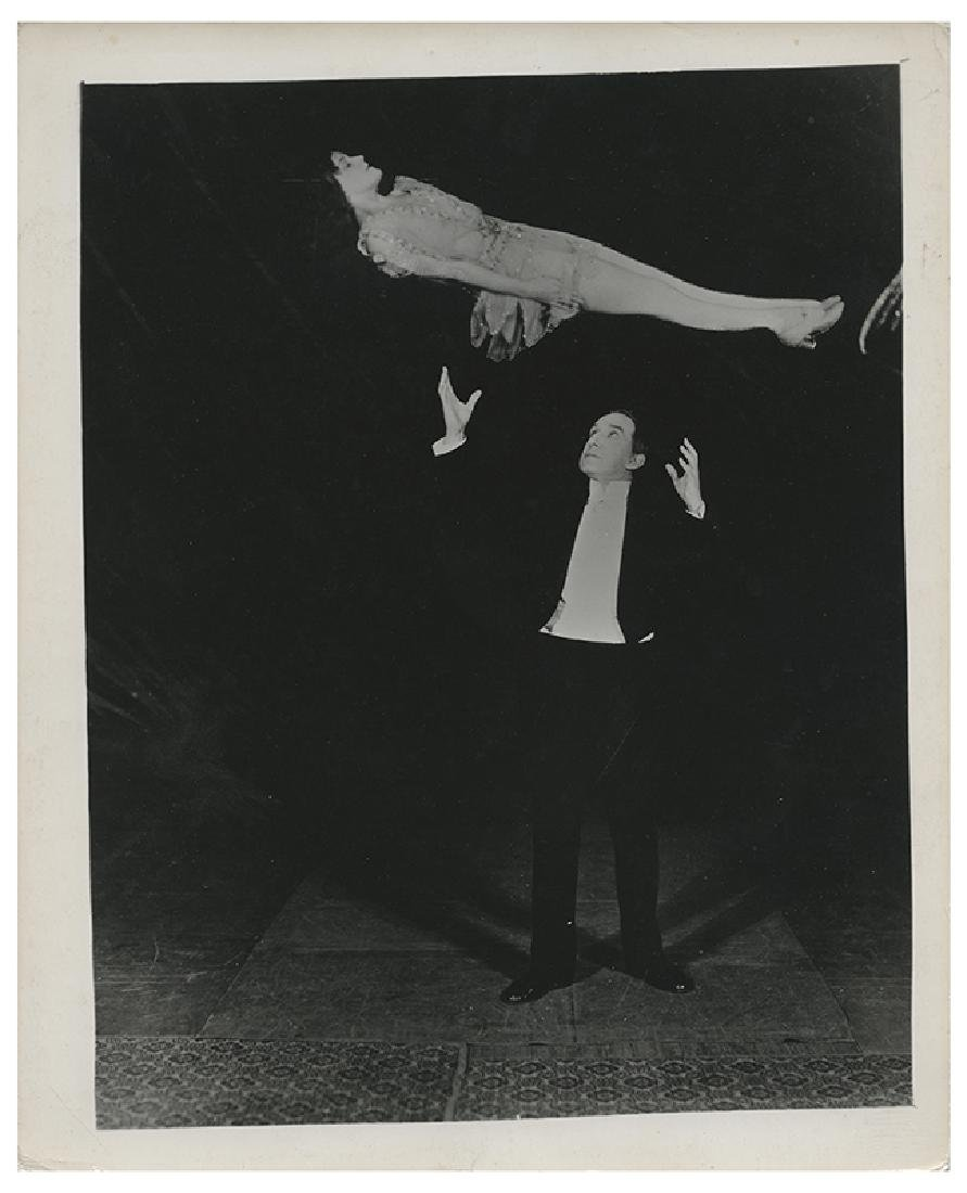 Six Photos of Thurston and His Illusions.