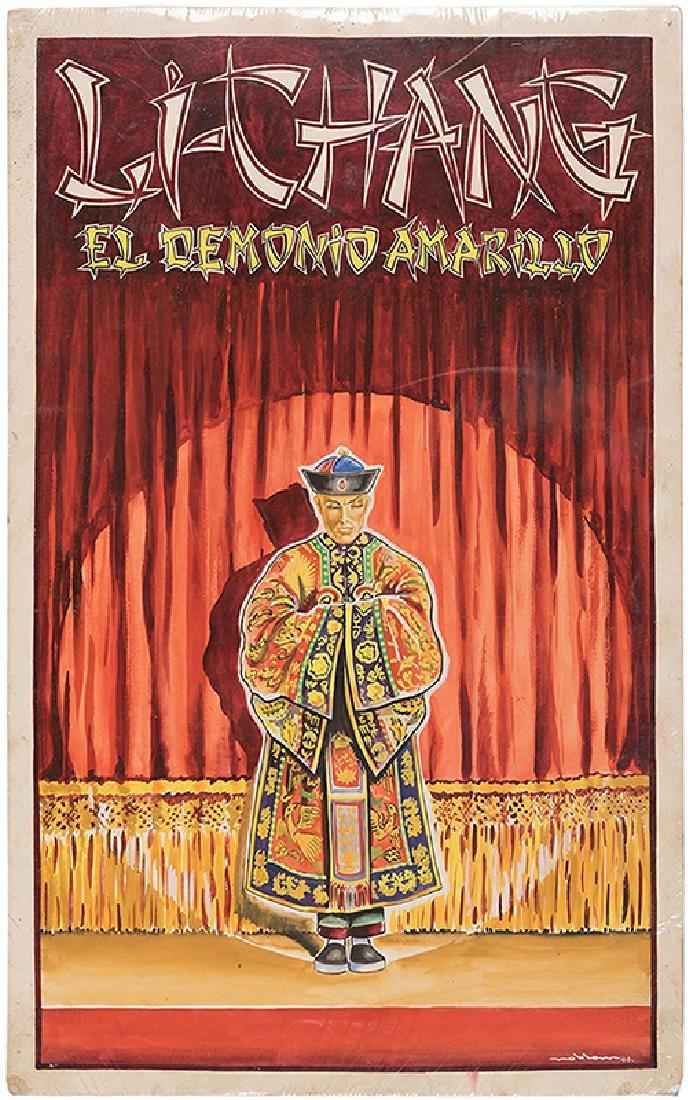 El Demonio Amarillo Original Artwork. - 2