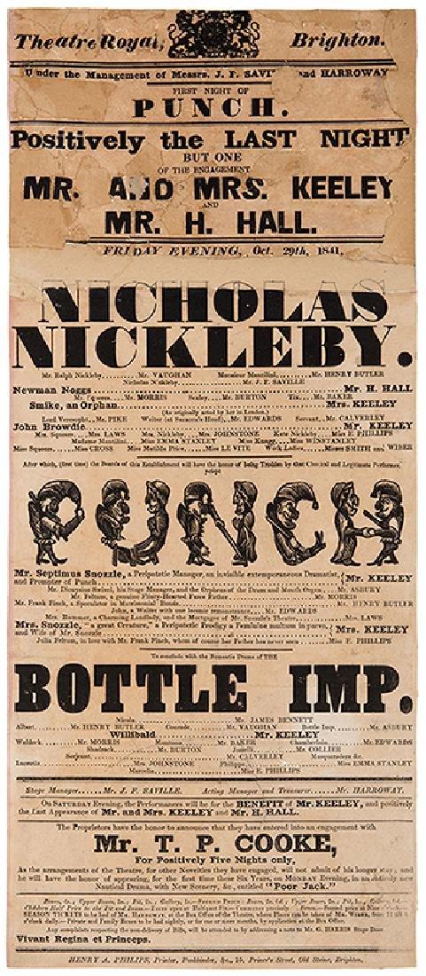 Theatre Royal, Brighton. Nicholas Nickelby. Punch.