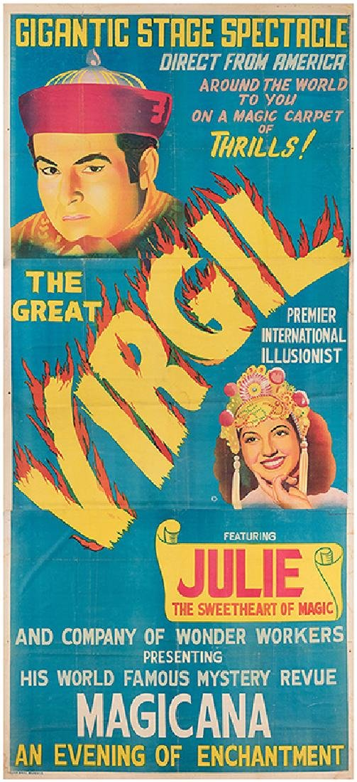 The Great Virgil Direct from America. Gigantic Stage