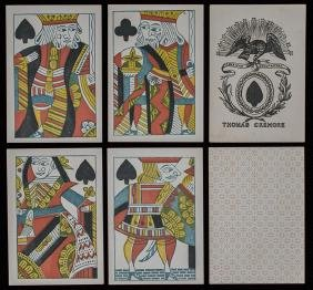 """Thomas Crehore """"American Manufacture"""" Playing Cards."""
