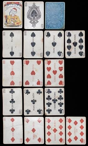 """Eagle Card Co. """"Heathen Chinee"""" Playing Cards."""